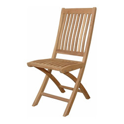 Anderson Teak - Tropico Folding Chair - One of our most economical folding armchair that will spice up your patio. It is easy to fold and it comes with handle to carry the chair when you want to store it somewhere. It comes 2 chairs per order. Cushion is optional and is being made by order.