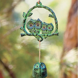 Owl Wind Chime - I bet this owl wind chime makes a sound as sweet as its design!