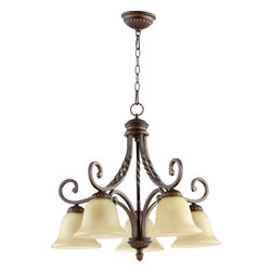 Quorum International - Quorum International 6478-5 Tribeca II 5 Light 1 Tier Chandelier - Features: