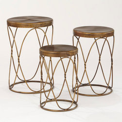 Nico Nesting Tables - I love the structural detail of these stools and would use them as side tables or perching places for pots in a sun room.