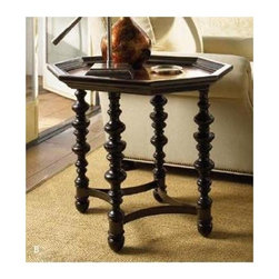 Tommy Bahama Home - Plantation Hammered Copper Accent Table - True Wood framed. Hammered copper top. Metal accents. Made from mahogany solids, American maple and mahogany veneers. Tamarind - black, highly distressed finish. Minimal assembly required. 28 in. W x 23 in. D x 25.25 in. H (38 lbs.). Special Care Instructions from Lexington FurnitureKingstown is a relaxed traditional collection inspired by British Colonial style, with a hint of Campaign and a touch of safari. The Tamarind finish is a rich aged black with rub-through to crimson and gold undertones beneath. The evocative designs provide a sense of a well-traveled life.of items hand selected during journeys around the globe. Each piece is crafted as a one-of-a-kind find yet the eclectic collection coordinates beautifully. Travel the world without ever leaving home.