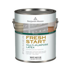 Fresh Start Multi-Purpose Latex Primer - Make this your go-to primer. It's zero VOC, so it's safe for you and your family. And you can have it tinted for when you're drastically changing the color of a room or object. I tried it for the first time recently and really liked the coverage.