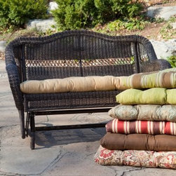 Casco Bay Porch Swing and Glider Cushion - A wicker glider is the next best thing to a porch swing.