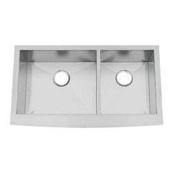 Artisan Manufacturing - Artisan 16-Gauge 35-3/4 x 20 3/4 Apron Sink - CPAZ3621-D1010 Artisan Manufacturing Chef-Pro Apron Front Double Bowl 16 Gauge Kitchen Sink