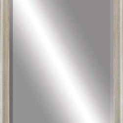 Paragon Decor - Beveled Mirror, Cracked Taupe, 24x36 - Mirror, Mirror, on the wall, who's the most beautiful mirror of them all? Reflect your impeccable taste with this contemporary-style mirror, which features a gorgeous simple cracked taupe frame and high-quality interior beveled mirror. This piece measures 28 inches wide, 2 inches deep, and 40 inches high.