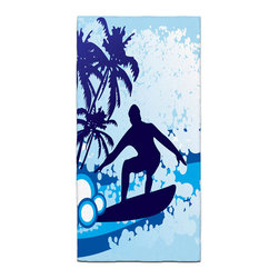 Surf's Up Bath Towel - Our Bath/Beach Towels are made of a super soft poly fiber fabric with 2mm pile.