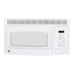 GE - GE Spacemaker Over-the-Range White Microwave Oven - This over-the-range microwave from GE features a recirculating vent fan with a grease filter to keep the air in your kitchen free of unwanted cooking aromas.