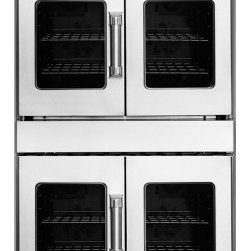 """American Range - Legacy Series AROFFG-230-N 30"""" Double Gas-Natural Gas Wall Oven With 4.7 Cu. Ft. - This Legacy 30 gas wall oven features double french doors gas Innovection Wall Ovens with infrared broiler in top oven and proofing element in bottom oven blue LED light indicators extra-large vieiwing window in oven door quick pre-heat times and uni..."""
