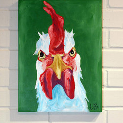 Custom Animal Painting by Logan Berard - Artist Logan Berard will paint an original portrait of your chicken — all you have to do is send in several photos of your pet, along with a description of their personality. A few weeks later, you get a one-of-a-kind painting in the mail.