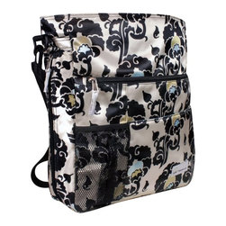 Amy Michelle - Amy Michelle Lexington Go Work Tote - Moroccan Multicolor - LEX-MOR-TOTE - Shop for Diaper and Bottle Bags from Hayneedle.com! Perfect for carrying to the office around town and even while traveling the Amy Michelle Lexington Go Work Tote - Moroccan gives you a lot of flexibility and function without sacrificing any style. Beautifully made with a fun print this work tote quickly and easily converts to a backpack making it an ideal choice for traveling. With plenty of room for organizing you'll love the five multi-functional pockets as well as the two internal and one external water pocket that helps to keep your hands free. The slip pocket on the back gives you additional room for important files that you need to keep easily in your reach. Its comfortable and adjustable shoulder strap can be worn across your body or on your shoulder when it's in tote form. Poly satin fabric is easy to clean and the antimicrobial lining stays clean and bright while killing bacteria!Additional FeaturesSlip pocket on the backQuickly and easily converts into a backpackComfortable single adjustable webbing shoulder strapStrap has a drop length of 13 inches to 24.5 inchesShoulder strap can be worn cross body or on shoulderPoly Satin fabric is easy to clean and water resistantAntimicrobial lining stays clean and brightAbout Amy MichelleAmy Michelle began with a conversation over dinner. In talking about how they balanced their time together with family and at work friends Amy and Michelle envisioned a single line of accessories that would help other busy women do all three. The Boulder Colo.-based Amy Michelle's range of diaper business and travel bags allow women to place the essentials for every aspect of their lives in one fashionable functional piece so they can carry on.