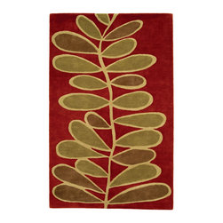 Fern, Hand-Tufted Wool Rug - Like a blanket of fern on the forest floor, this pattern will soften and provide comfort to any space. Hand-tufted with 100% New Zealand wool. Multi-dimensional cut pile.