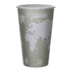 Eco-products World Art Renewable And Compostable Hot Cups - 16 Oz - Case Of 500 - 16 oz. World Art Hot Cup