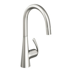 Grohe - Grohe Ladylux 3 Pro dual spray kitchen faucet, Realsteel - Ladylux3 Pro