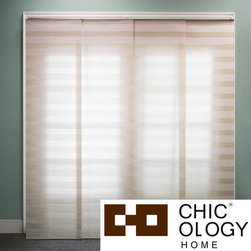 None - Chicology  Basket Natural Beige Double Rail Sliding Window Panels - Whether used as a curtain or a room divider,these sliding window panels will bring a sleek,clean look to your home's furnishings. Featuring a neutral color and easily customized length,this set has the versatility to fit almost any room.