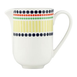 kate spade new york - kate spade new york Hopscotch Drive Creamer - Our Hopscotch Drive Creamer by kate spade new york is adorned by rows of bright graphic dots and fun pattern. Crafted in chic porcelain, this lively creamer turns your table into a stylish destination. Perfect for both formal and casual meals.