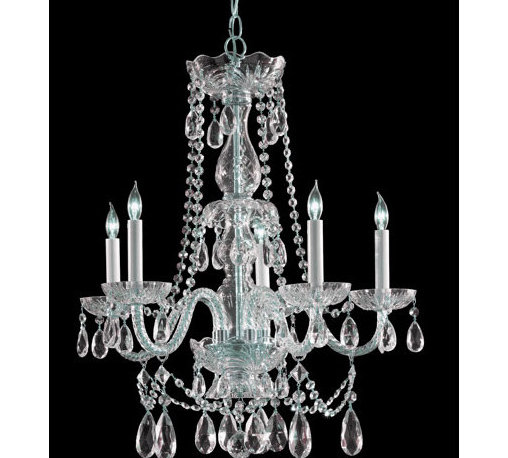 Crystorama Lighting Group - Traditional Polished Chrome Five-Light Hand Cut Crystal Chandelier - - Traditional crystal chandeliers are classic, timeless, and elegant. Crystorama's opulent glass arm chandeliers are nothing short of spectacular. This collection is offered in a variety of crystal grades to fit any budget. For a touch of class, order this collection in Gold for traditionalists or in Chrome to match your contemporary or transitional decor. Crystorama Lighting Group - 1125-CH-CL-MWP