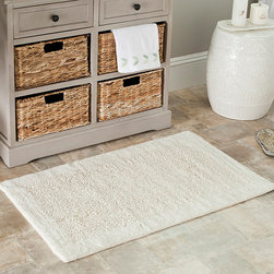 Safavieh - Safavieh Spa 2400 Gram Serenity Natural 21 x 34 Bath Rugs (Set of 2) - Turn any bathroom into a spa with an ultra luxurious extra dense bath rug. Bath rug measures 21 inches high x 34 inches wide and this item comes in a set of two.