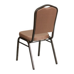 Flash Furniture - Flash Furniture Banquet Stack Chairs Banquet Stack Chairs - This is one tough chair that will withstand the rigors of time. With a frame that will hold in excess of 500 lbs., the HERCULES Series Banquet Chair is one of the strongest banquet chairs on the market. You can make use of banquet chairs for many kinds of occasions. This banquet chair can be used in Church, Banquet Halls, Wedding Ceremonies, Training Rooms, Conference Meetings, Hotels, Conventions, Schools and any other gathering for practical seating arrangements. The banquet chair is also great for home usage from small to large gatherings. For any environment that you use a banquet chair it will put your guests at a greater comfort level with the padded seat and back. Another advantage is the stacking capability that allows you to move the chairs out of the way when not in use. With offerings of comfort and durability, you can be assured that you can enjoy this elegant stacking banquet chair for years to come. [FD-C01-GOLDVEIN-GO-GG]