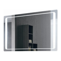 """Vanita & Casa by Nameeks - Lighted Vanity Mirror - Features: -Vanity mirror. -Modern design. -Direct wire. -Includes defogger function. -Includes on / off switch. Specifications: -Accommodates: T5-40W 2 pieces lamp, 110V voltage. -Dimensions: 27.6"""" H x 37.4"""" W x 1.6"""" D."""