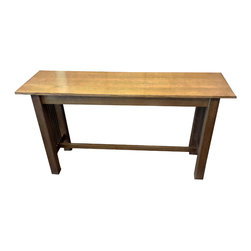 Circle Goods - Mission Sofa Table - Clean lined and classic, this sofa table is a chic companion for your couch. Crafted from white oak with elegant slatted sides, it delivers understated good looks and timeless style.
