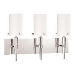 "Nuvo Lighting - Nuvo Lighting 60/3868 Three Light Reversible Lighting 21"" Wide Bathroom Fixture - *Three light reversible lighting bathroom fixture featuring white opal glass shades"