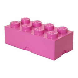 LEGO - LEGO FRIENDS Storage Brick 8, Medium Pink - Let children tidy up with a smile using our Lego Storage Brick 8 in medium pink that isn't simply a container - it's also a giant Lego brick that can be used to build oversized Lego creations. Lift off the top to reveal storage space for small toys, regular bricks and building accessories. So, decorate, play, build, form and have fun with the boxes.