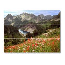Picture-Tiles, LLC - National Park Photo Shower Tile Mural N027 - * MURAL SIZE: 24x32 inch tile mural using (12) 8x8 ceramic tiles-satin finish.