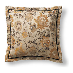 Frontgate - Milano Floral Decorative Pillow - Floral Decorative Pillow is 100% polyester. Dry clean. Made in the USA of imported fabrics. Imagine waking up in an Italian inn during the autumnal harvest and you will experience the essence of the Milano Bedding Ensemble. Decorative pillows feature lavish piecings and trimmings. . . .