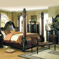 Yuan Tai Furniture - Fabiana Queen Poster Bed - FA3500Q - Solid Hardwoods and wood veneers