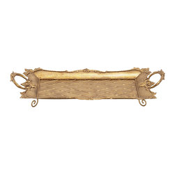 Amazing Styled Metal Gold Tray - Description:
