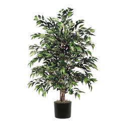 Vickerman - 4' Green Smilax Bush - 4' Green Smilax Bush in Black Plastic Pot