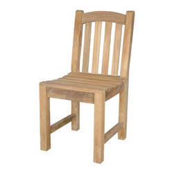 Anderson Teak - Chelsea Dining Chair - This simple traditional curved back style-dining armchair will never go out of style, but quietly blends with any other design. The seat is very sturdy as well as the back. Place this chair in your backyard with the dining table, will amazed your family or friends. Cushion is optional and is being made by order.
