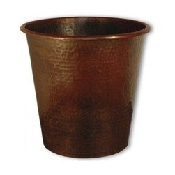 """KCK Bathroom Mirrors & Accessories - Waste Basket In Antique - Hand hammered copper. Made from heavy 16 gauge copper. Beautifully accents Native Trails bath furniture, sinks and mirrors. Post-consumer recycled copper. 9 1/2"""" W x 9"""" D"""