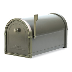 Architectural Mailboxes - Coronado Post Mount Mailbox Bronze with Antique Bronze Accents - Priority post: If you're looking for a durable and unusually stylish mailbox, this one delivers. It's created of heavy galvanized steel for strength and has solid brass accents for a distinctive look.
