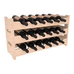 18 Bottle Mini Scalloped Wine Rack in Pine with Satin Finish - Stack three 6 bottle racks for proper storage of 18 wine bottles. This rack requires light hardware for assembly and is ready to use as soon as it arrives. Makes the perfect gift and stores wine on any flat surface.