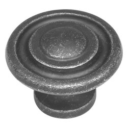 Hickory Hardware - Manchester Vibra Pewter Cabinet Knob - Refreshing in its simplicity, Rustic style highlights natural beauty and a rugged, resilient spirit.  Thanks to the unpretentious roots, organic textures, shapes and natural warmth, its become as popular in the heart of the city as it is out in the woods.