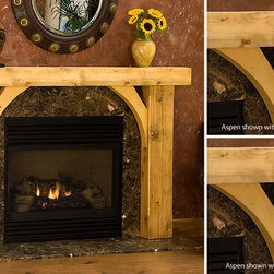 Aspen Timber Wood Fireplace Mantel - The textured, golden hue of the Aspen timber mantel coincides perfectly with the rising trends in 2014 home design.-Mantels Direct
