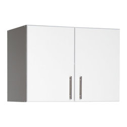 "Prepac - Prepac Elite Storage 32"" Topper and Wall Cabinet with 2 Doors - Prepac - Storage Cabinets - WEW3224 - For laundry rooms workshops and garages that need practical and versatile storage the Elite 32"" Stackable Wall Cabinet is the answer. At 16"" deep instead of the standard 12"" it offers both big storage and customization potential. Mount it directly to your wall or pair it with the Elite 32"" Storage Cabinet for a total of 89 vertical inches of storage."