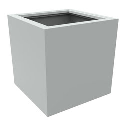 Decorpro - Medium Athens Planter, Light Gray - The Athens planter is versatile in that it can be used in a variety of settings. From modern houses to traditional spaces, the simple shape of this planter ensures that it will always look good.