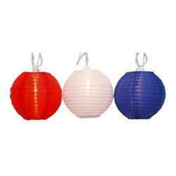 Battery Operated 8-Inch Lanterns, Set of 3 - Dress up a bar cart or patio umbrella with some festive lanterns!