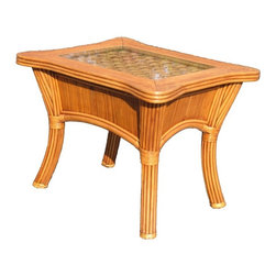 Wicker Paradise - Rattan End Table - Bombay - This primitive looking rattan end table is made of the finest material with exceptional attention to detail.