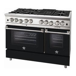"BlueStar Platinum Series: 48"" Range - 48"" BlueStar Platinum Range in Jet Black (RAL 9005)"