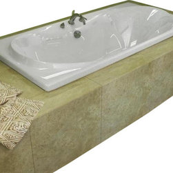 Spa World Corp - Atlantis Tubs 3672W Whisper 36x72x23 Inch Rectangular Soaking Bathtub - The interior of the Whisper is sensual and curvaceous, while maintaining a rectangular outline. The center drain allows you to lie back comfortably on either end of the tub, while the smooth curves of the Whisper series create a seat like effect for ultimate relaxation and comfort.