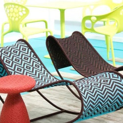 M'Afrique Lounger - This graphic rocking lounger is a fun way to add some print poolside.