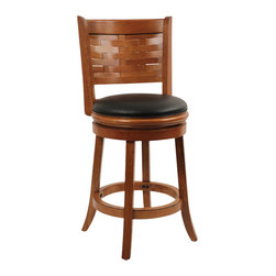 """Boraam - Boraam Sumatra 24"""" Swivel Counter Stool in Brush Oak - Boraam - Bar Stools - 41024 - Boraam's high quality products are well styled and priced right. Benefiting from years of experience in the industry. Boraam knows what you look for in quality furniture and takes pride in getting orders out as diligently as possible. Feel confident that Boraam will take your living space to another level."""
