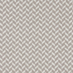 Grey and Off White Herringbone Check Upholstery Fabric By The Yard - This contemporary fabric is an excellent choice for all indoor upholstery! In addition to looking like linen, this material is woven for enhanced appearance and durability.