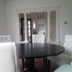 Round Black Wash Dining Table - www.ecustomfinishes.com
