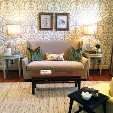 Traditional Living Room by Brad Ramsey Interiors