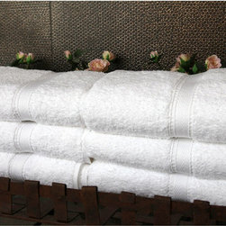 None - Authentic Hotel & Spa Turkish Cotton Hand Towel (Set of 6) - All-white genuine Turkish cotton towels bring a touch of luxury to your home. The 700-gram Turkish cotton is ultra-absorbent. Towels stays crisp even after repeated use,making them the next best thing to a stay at your favorite luxury hotel and spa.