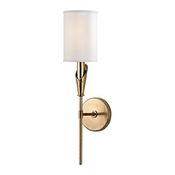HUDSON VALLEY LIGHTING - Hudson Valley Lighting Tate-Wall Sconce Aged Brass - Free Shipping